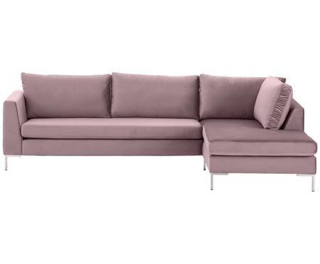 Canapé d'angle en velours Luna