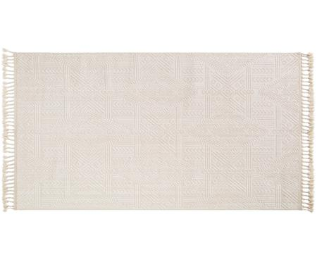 Teppich Laila Tang mit Hoch-Tief-Effekt in Creme