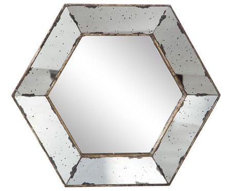 Espejo de pared Hexagonal