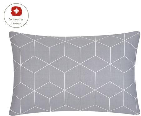 Renforcé-Kissenbezug Lynn mit grafischem Muster