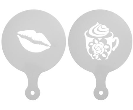 Set stencil per cappuccino Coffee & Lips, 2 pz.