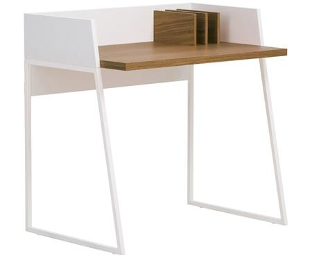 Pequeño escritorio de madera con estante Camille