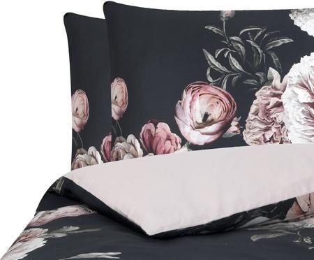 Baumwollsatin-Bettwäsche Blossom mit Blumenprint