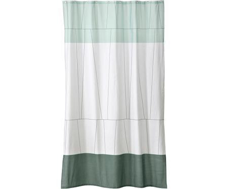 Petit rideau de douche en coton bicolore Verdi