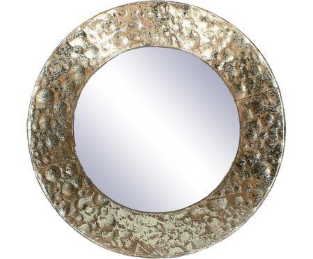 Specchio da parete con cornice in ottone Fridy