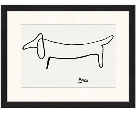 Ingelijste digitale print Dog From Pablo Picasso