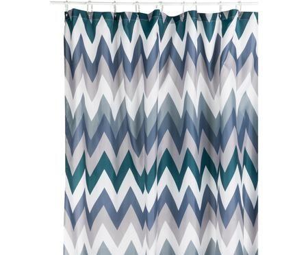 Tenda da doccia con motivo a zigzag Hanneke