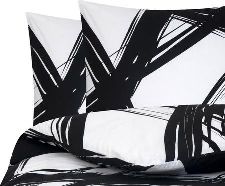 Renforcé-Bettwäsche Brush mit abstraktem Print