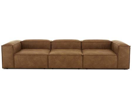 Canapé modulable en cuir Lennon (4 places)
