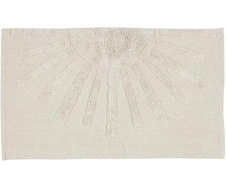 Tapis de bain en coton bio, avec motif en relief Sun