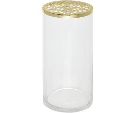 Glas-Vase Julia mit Metalldeckel
