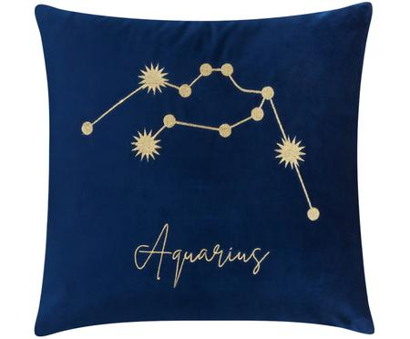 Federa arredo in velluto Zodiac con segno zodiacale ricamato (Varianti)
