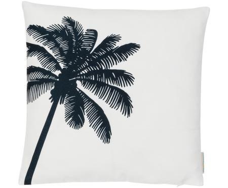 Kissenhülle Los mit Palme in Schwarz/Weiß