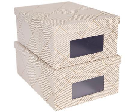 Komplet pudełek do przechowywania Sigismund, 2 elem.