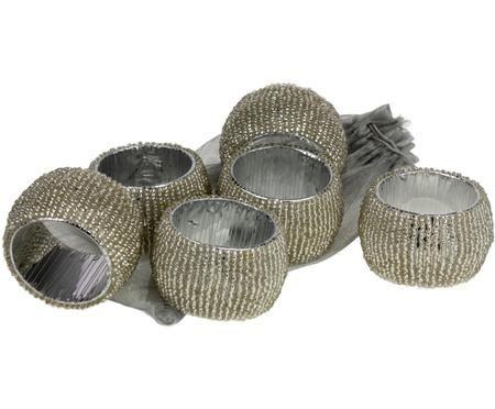 Ronds de serviette Perla, 6 pièces