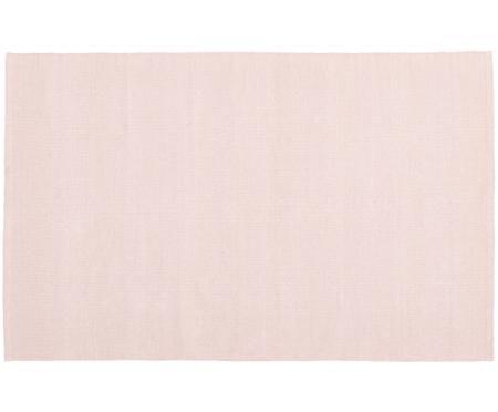 Einfarbiger Baumwollteppich Agneta, handgewebt
