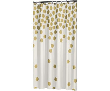 Duschvorhang Spots in Weiß/Gold