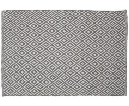 Badmat Erin in boho stijl, grijs/wit