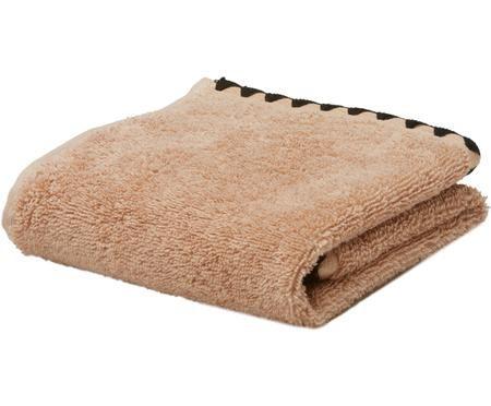 Handtuch Issey mit bestickter Borte