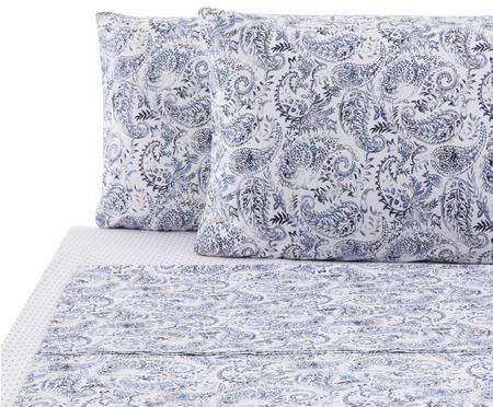 Completo letto renforcé Yumi con lenzuolo, 4 pz.