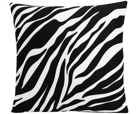 Kissenhülle Pattern mit Zebra Print in Schwarz/Weiß