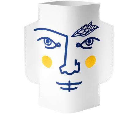 Vaso in carta decorativo fatto a mano Janus