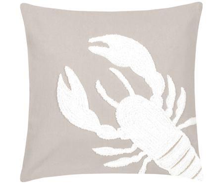 Kissenhülle Lobster mit getuftetem Motiv