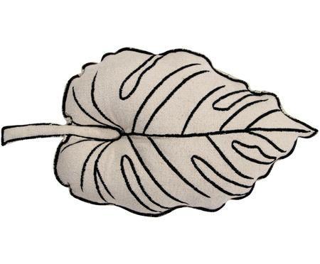 Kissen Leaf in Blattform, mit Inlett