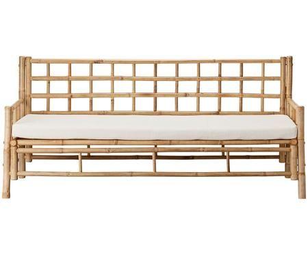 Bambus-Sofa Mandisa (3-Sitzer) mit Sitzpolster