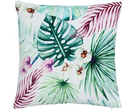Kussenhoes Jenna met tropisch patroon in groen/roze