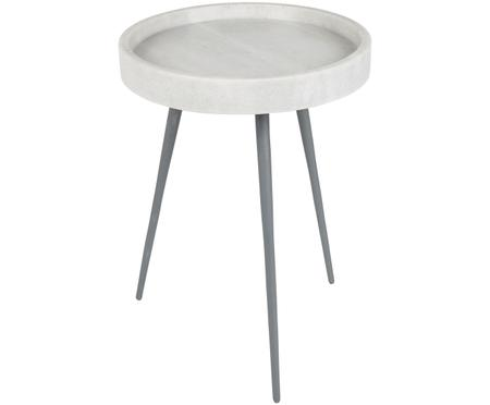 Tavolino rotondo con piano in marmo Karrara