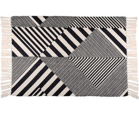 Tappeto in cotone con motivi grafici Beely