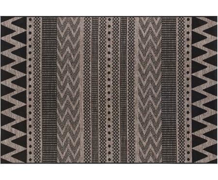 In- & outdoor vloerkleed Sidon met grafisch patroon