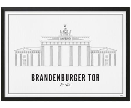 Ingelijste digitale print Berlin Brandenburger Tor