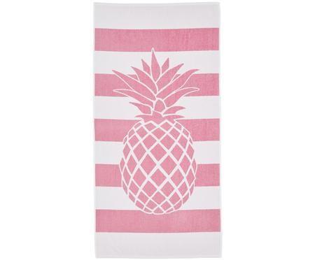 Gestreiftes Strandtuch Asan mit Ananas-Motiv