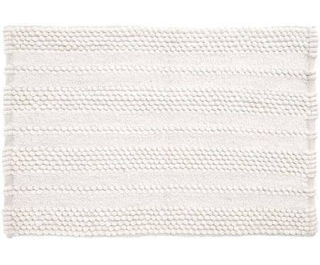 Badvorleger Nea in Weiß mit Hoch-Tief-Struktur