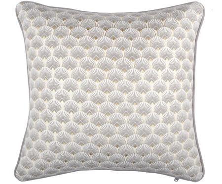 Kissen Corosol mit Art Deco Muster, mit Inlett