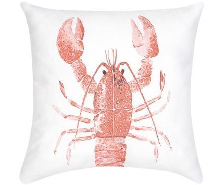 Kissenhülle Homard mit Print in Aquarelloptik