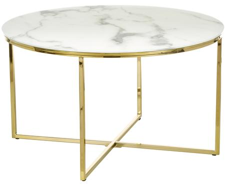 Konferenčný stolík s mramorovanou sklenenou doskou Antigua