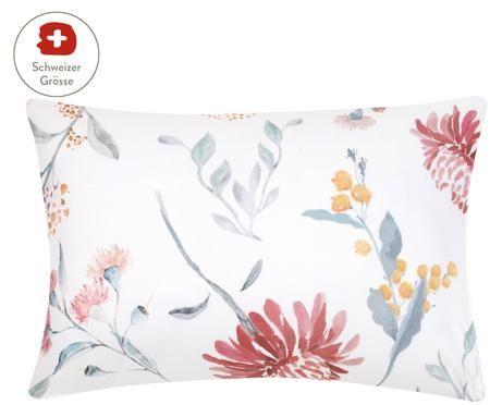 Baumwollsatin-Kissenbezug Evie mit Aquarell Blumenmuster