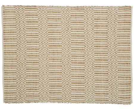 Seegrasteppich Grado in Beige-Weiß mit Muster