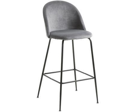Krzesło barowe z aksamitu Ivonne
