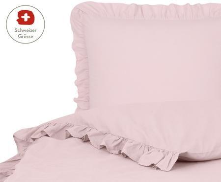 Perkal-Bettdeckenbezug Florence mit Rüschen