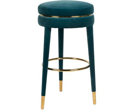 Tabouret de bar en velours I Am Not A Macaron