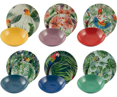 Set di piatti Parrot Jungle, 18 pz.