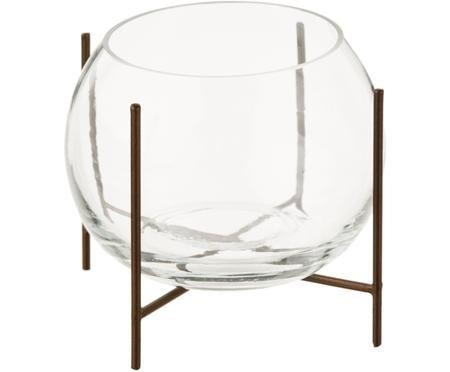 Vaso a sfera con struttura in metallo Ada