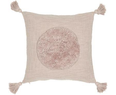 Funda de cojín de algodón ecológico con borlas Sun
