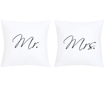 Komplet poszewek na poduszki Mr&Mrs, 2 elem.