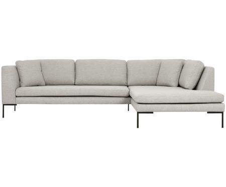Canapé d'angle gris clair Emma
