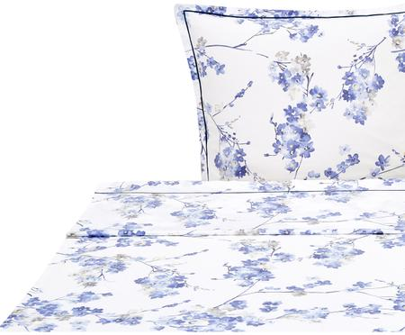 Drap plat en satin de coton Blossom Faïence
